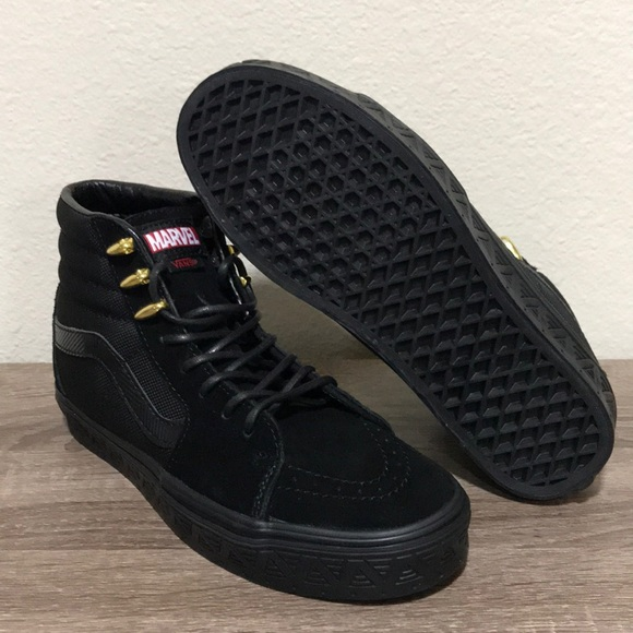 59e5af7d54 Vans Marvel Black Panther SK8-HI Men 6.5 Women 8